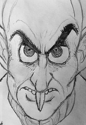 Drawing - Nosferatu by Yshua The Painter