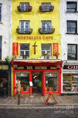 Digital Art - Nostalgia Cafe by Les Palenik