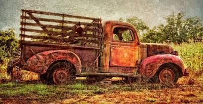 Rusty Old Car Wall Art - Photograph - Nostalgia by John Hamlon