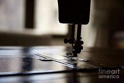 Photograph - Nostalgia ..sewing Machine Silhouette by Lynn England