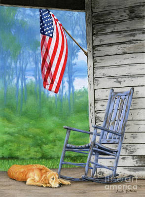 Flags Painting - Come Home by Sarah Batalka