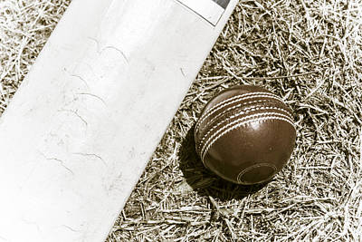 Nostalgic Cricket Bat And Ball Art Print by Jorgo Photography - Wall Art Gallery