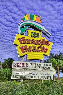 Photograph - Nostalgic For Pensacola Beach by JC Findley