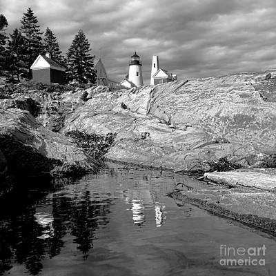 Keepers House Photograph - Nostalgic Pemaquid Point Lighthouse by Olivier Le Queinec
