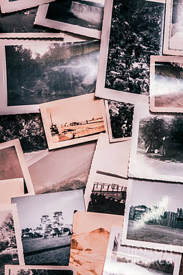 Claude Monet - Nostalgic photo print background of a collection of old faded sc by Jorgo Photography