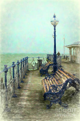 Mixed Media - Nostalgic Pier Swanage by Linsey Williams