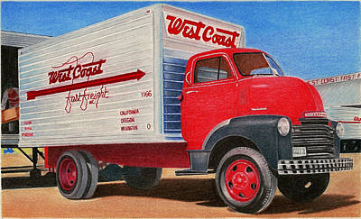 Nostalgic Trucking Original by Lyle Brown