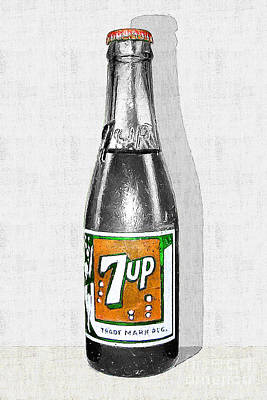 Photograph - Nostalgic Vintage Pop Art 7up Bottle 20160220v2 by Wingsdomain Art and Photography