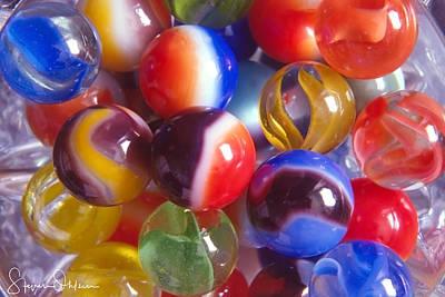 Marble Eyes Digital Art - Nostalic Marbles - Signed Limited Edition by Steve Ohlsen