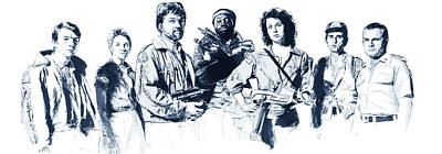 Digital Art - Nostromo Crew by Kurt Ramschissel