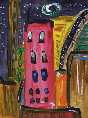 Not A Common City Night Art Print by Mary Carol Williams