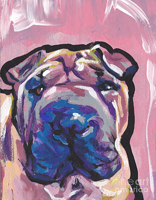 Not A Hippo- Just Hip Art Print by Lea S