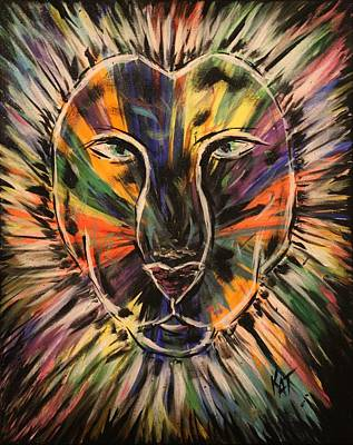 Painting - Not A Tame Lion by Kat Heckenbach