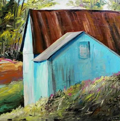 Portfolio Painting - Not All Barns Are Red by John Williams