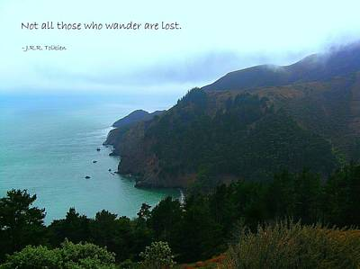 Affirmation Photograph - Not All Who Wander Are Lost by Jen White