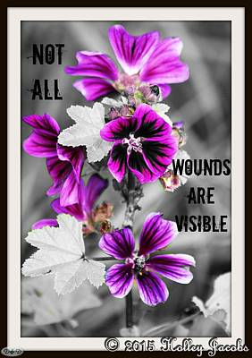 Digital Art - Not All Wounds by Holley Jacobs
