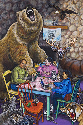 Wall Art - Painting - Not Another Bear by Rich Travis