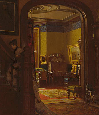 Not At Home  Art Print by Eastman Johnson