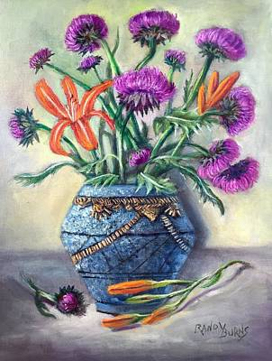 Painting - Thistles Of Amethyst by Randy Burns