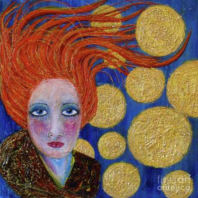 Mixed Media - Not Easy Being Me by Jane Chesnut