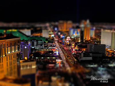 Photograph - Not Everything Stays In Vegas - Tiltshift by EricaMaxine  Price
