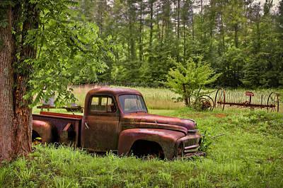 Antique Hay Rake Photograph - Not Forgotten by Debra and Dave Vanderlaan