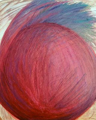 Contemporary Abstract Drawing - 'not In A Fruit Salad' by Kelly K H B