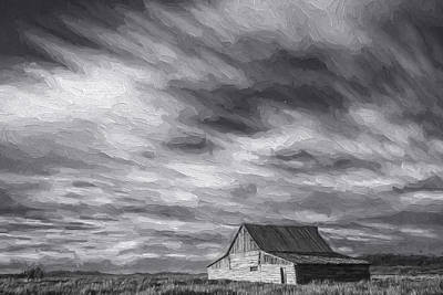 White Clouds Digital Art - Not In Kansas Anymore IIi by Jon Glaser