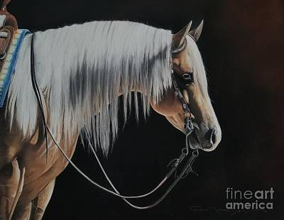 Western Pleasure Horse Pastel - Not Just Another Pretty Face  by Joni Beinborn