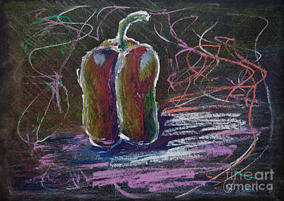 Drawing - Not Just Any Pepper by Lynda Cookson