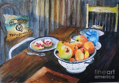 Not Just Tea And Scones - Qcwa Toowoomba 90 Years Original by Therese Alcorn