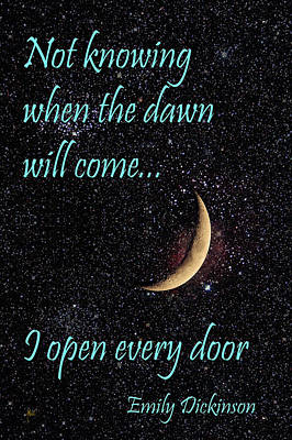 Not Knowing When The Dawn Will Come Art Print