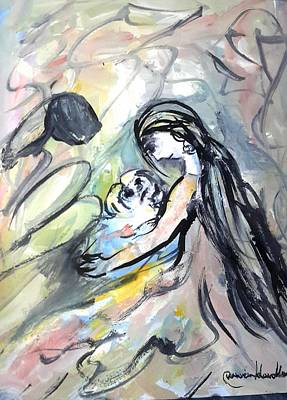 Painting - Not Leave Your Family  by Wanvisa Klawklean