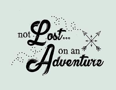 Digital Art - Not Lost On An Adventure by Heather Applegate