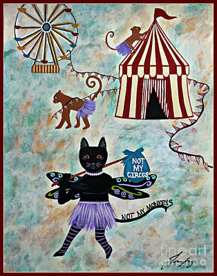 Painting - Not My Circus - Not My Monkeys by Jean Fry