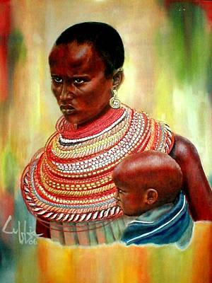 Beadwork Painting - Not My Son by G Cuffia