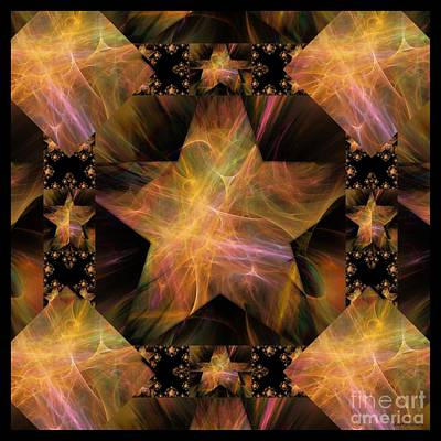 Digital Art - Not So Black Star / Tessellated by Elizabeth McTaggart