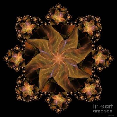Digital Art - Not So Black Star / Kaleidoscope   by Elizabeth McTaggart