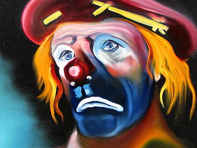 Laugh Painting - Not So Funny by Jeff Hunter