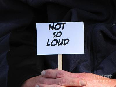 Jon Stewart Photograph - Not So Loud by Ben Schumin