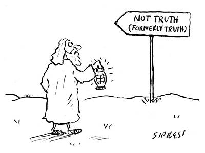 Drawing - Not Truth by David Sipress