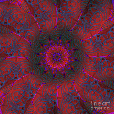 Digital Art - Not Your Grandmother's Doily by Rhonda Strickland