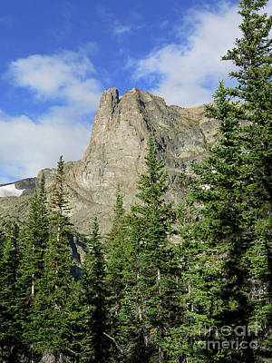 Photograph - Notchtop Mountain On A Summer Day In Rocky Mountain National Par by Ronda Kimbrow