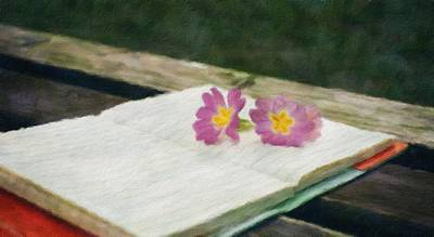 Decorative Benches Painting - Note - Id 16218-130646-1973 by S Lurk