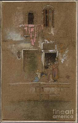 Whistler Painting - Note In Pink And Brown by Celestial Images