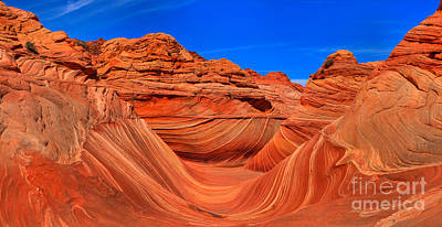 Photograph - Nothern Arizona Wave Panorama by Adam Jewell