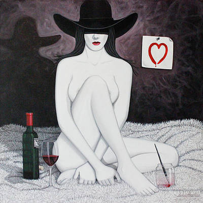 Wine Painting - Nothin' But Red by Lance Headlee