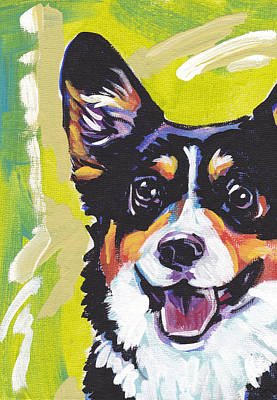 Pembroke Welsh Corgi Painting - Nothin Like A Corgi by Lea S