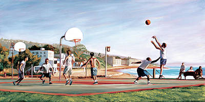 Basketball Painting - Nothing But Net by Steve Simon