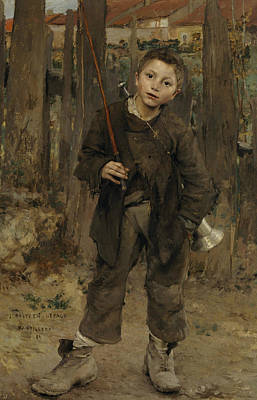 Boy Portrait Painting - Nothing Doing by Jules Bastien-Lepage